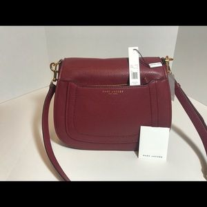 Marc Jacobs Burgundy large Saddle Bag NWT